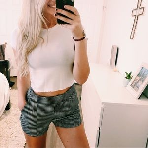 Brandy Melville One Size Checkered Shorts